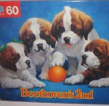 Beethoven's 2nd Movie Puzzle Dog Milton Bradley Box St. Bernard Puppies SEALED