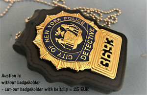 ##/ Collector police badge, Movie prop,  * Detective *, City of New York Police