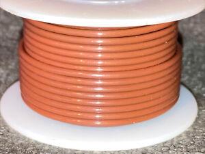 """NTE WT18-01-25  18 awg 19 Strand Type """"E"""" Teflon Brown 200°C@600V 25 ft. spool"""