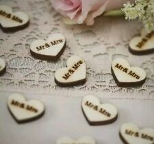 WOODEN RUSTIC CONFETTI TABLE DECOR WEDDING/ BRIDAL SHOWER ENGAGEMENT DIY PROJECT