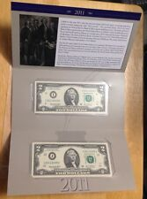 $2 Double deuce Set Bills With Matching Serial For Minneapolis & Kansas City Set