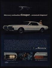 1967 MERCURY COUGAR 289 cubic inch V-8 White Sports Car Unleashed VINTAGE AD