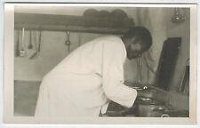 RPhC, Cook in Mission Station Kitchen, Matiri,Dar es Salaam Region, Africa,1940s