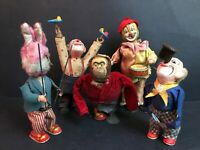 CLOWN e ANIMALI DA CIRCO - GIOCATTOLI in LATTA a molla tin toy wind up