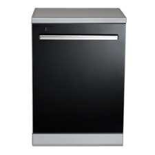 Euromaid EDWB14G 600mm Black Glass Dishwasher WELS compliant