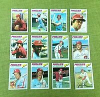 1977 TOPPS BASEBALL PHILADELPHIA PHILLIES TEAM SET LOT 25 CARDS EX-MT/NM