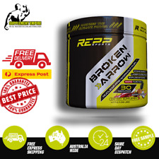 REPP SPORTS BROKEN ARROW PRE WORKOUT HIGH STIM EXTREME LIME ICE C4 OXYSHRED