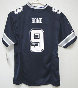 NIKE DALLAS COWBOYS #9 TONY ROMO AWAY GAME FOOTBALL JERSEY YOUTH SIZE L