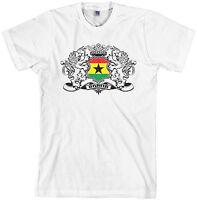 Threadrock Men's Ghana Lion Crest Flag T-shirt Ghanaian Shield