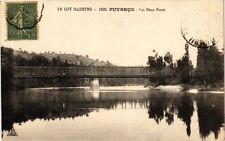 CPA  Le Lot Illustré - Puybrun - Les Deux Ponts (223688)