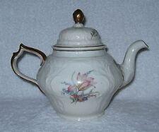 Rosenthal Sansoucci R2281 Floral Gold Trim Tea Pot with Lid