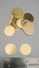 """1"""" Round Brass Blank Metal Tags - Ideal for stamping 24 pcs"""