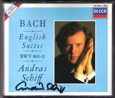 Andras SCHIFF Signiert BACH 6 English Suite DECCA 2CD BWV 806-811 West Germany