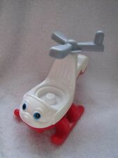 Fisher Price Little People HELICOPTER Rotors Turn AIRPORT Copter Chopper 2001