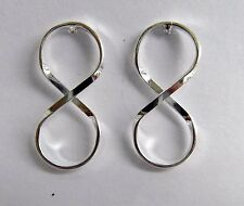 Pair Of Sterling Silver  925  Infinity   Ear Studs  !!     Brand  New  !!