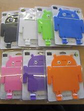 Purple Android Robot Man Multi Angle Stand Desk Cradle 4 Samsung Galaxy Tab 2/3