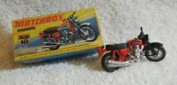 VINTAGE MATCHBOX HONDARORA NEW18 MOTORCYCLE,RED / LESNEY-ENGLAND w ORIGINAL BOX