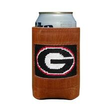 University of Georgia (Black) Leather Needlepoint Koozie