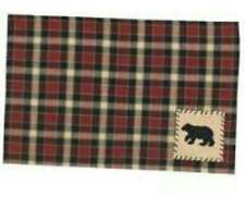 Park Designs Concord Black Bear Placemat Never Used NWT 13x18.5