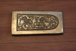 Vintage india Bronze Jewelry Die Mold animal scan Hand Engraved Collectible Die