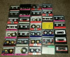 Lot of 33 Previously Recorded Audio Cassette Tapes, Cases  Blanks  Re-Recording
