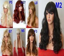 Dama Mujeres Negro Marrón Rojo Pálido Rubia Dorada Blanqueador Auburn peluca recta rizado