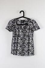 Women's Animal Print Short Sleeve Sleeve Cotton Blend Hip Length Tops & Shirts