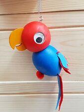 Divertido Madera Juguete Colgante en una primavera en la forma de parrot
