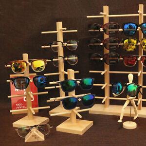 Wooden Sunglasses Eye Glasses Display Rack Stand Holder Organizer 4/5/6  HOT