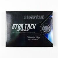 Star Trek USS SHENZHOU NCC 1227 Dedication Plaque Replica Eaglemoss NEW