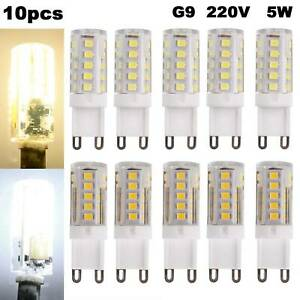 10PCS G9 LED Bulb 5W SMD2835 Capsule Light Replace Halogen Bulbs Energy Saving