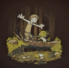 81cfbf4ff CALVIN & HOBBES as SKYWALKER & YODA - Men's size L - Graphic T-Shirt