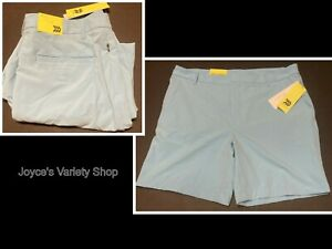 Men's Golf Shorts All In Motion Wicking Quick Dry Stretch Light Blue Many Sizes