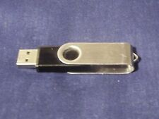 Sin Marca 1gb unidad flash USB Stick Clave-Plata/Metal/Tapa Giratoria