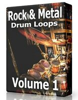 Rock & Metal Drum Loops WAV Samples Pro Tools FL Studio Ableton Logic Reason