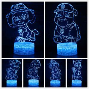 Paw Patrol LED 3D Tischlampe Nachtlicht Nachttischlampe Geburtstag Gift Mode