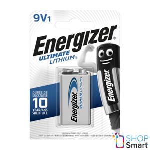 ENERGIZER 9V ULTIMATE LITHIUM BATTERIES L522 9B E BLOCK EXP 2027 NEW