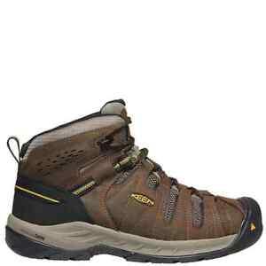 Keen Men's Flint II Mid Steel Toe Waterproof Work Safety Boots