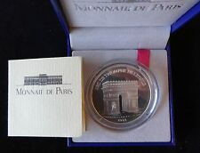 1993 SILVER PROOF FRANCE 100 FRANCS  - 15 ECUS COIN BOX + COA ARC DE TRIOMPHE
