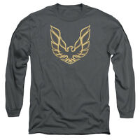 PONTIAC ICONIC FIREBIRD Licensed Men's Long Sleeve Graphic Tee Shirt SM-3XL