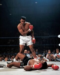 MUHAMMAD ALI SONNY LISTON FIGHT 8X10 GLOSSY PHOTO PICTURE