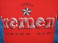 vintage 80s TEXAS FIREMEN TRAINING SCHOOL T-Shirt XXS/XS fire fighter dept. thin