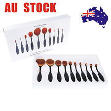 10PCS Tooth Brush Shape Oval Makeup Brush Set Multipurpose Make Up Kits