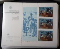 """Portugal/Azoren 1982, Blockausgabe """"Historische Ereignisse"""" per 100, (ME 600,-)"""
