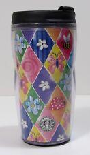 Starbucks Barista Butterflies & Flowers 8oz Tumbler Cup 2003