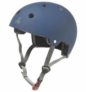 Triple Eight Brain Saver Blue Matte L/XL Skateboard BMX Multisport Helmet