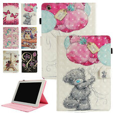 3D Cartoon Pattern Wallet Folio Smart Case Cover For iPad 2 3 4 Mini Air Pro 9.7
