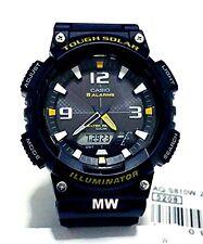 Casio Tough Solar Men Analog Blue Resin Sport Watch Illuminator AQ-S810W-2A  New