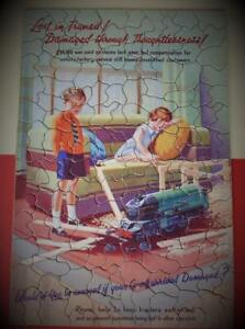 CHAD VALLEY THE RAREST GWR JIGSAW PUZZLE 'LOST IN TRANSIT' BOXED 1938 PUSHFIT