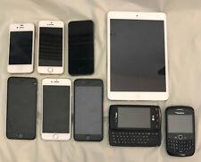 Eight (8) Cell Phones & One (1) Ipad Apple, Lg, Blackberry